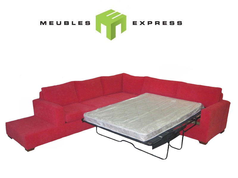 Sofa Sectionel Lit Double Sur Mesure Meubles Express - Mesure Lit Double