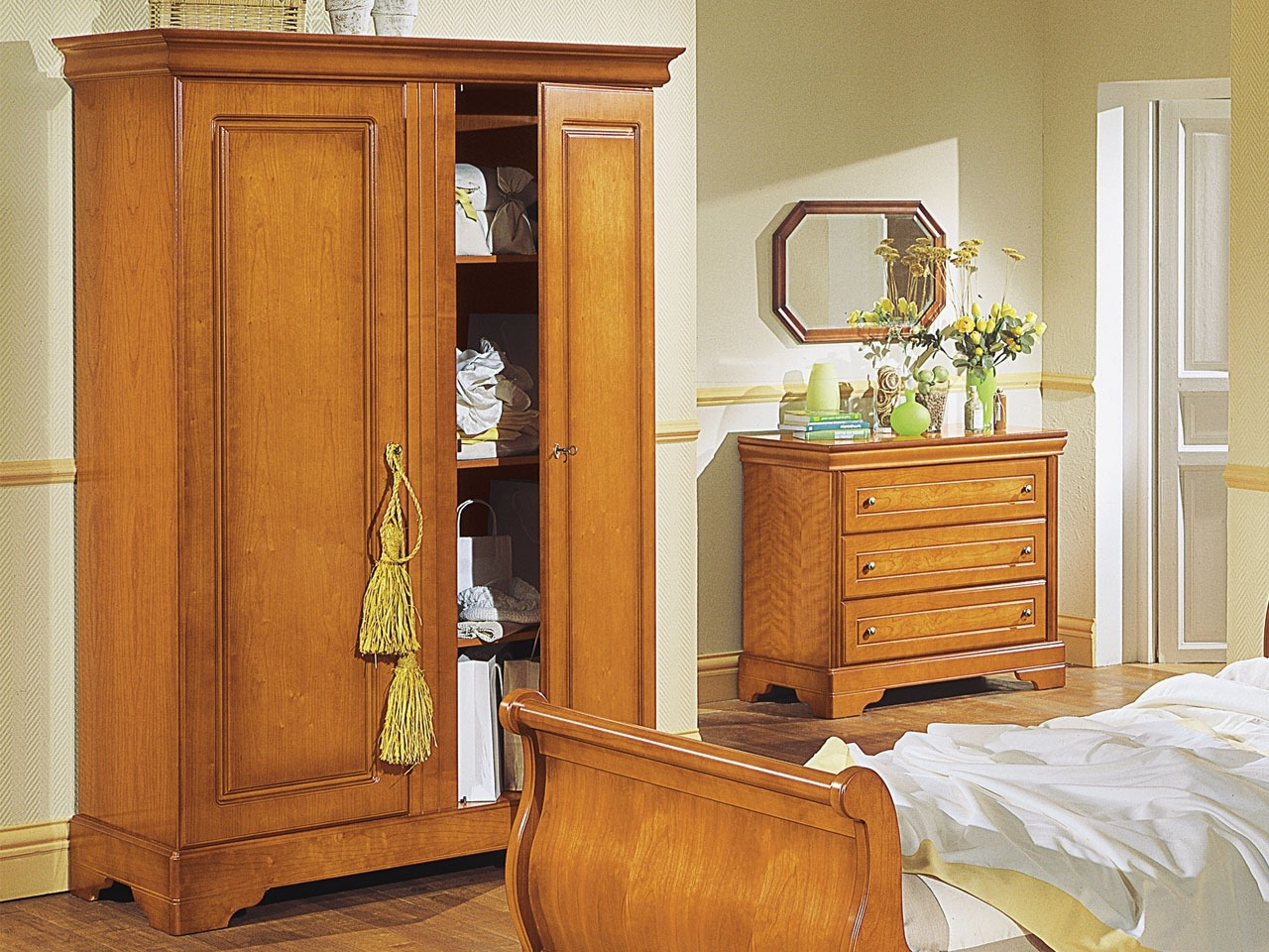 Dressing Pin Massif Armoire Louis Philippe 2 Portes Bois Meubles Minet