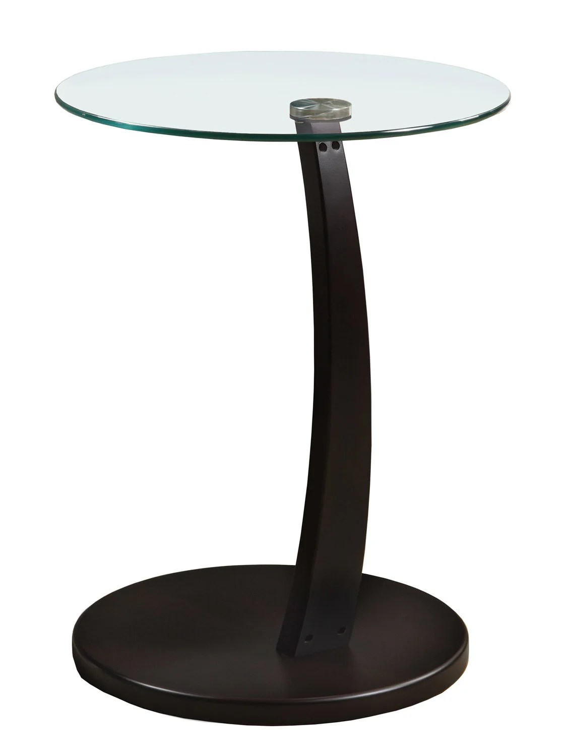 Table D Appoint Cappuccino Avec Verre Trempe Meubles Rd