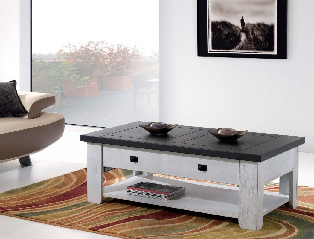 Table Basse Chene Clair Massif Table Basse Whitney Meubles Rigaud