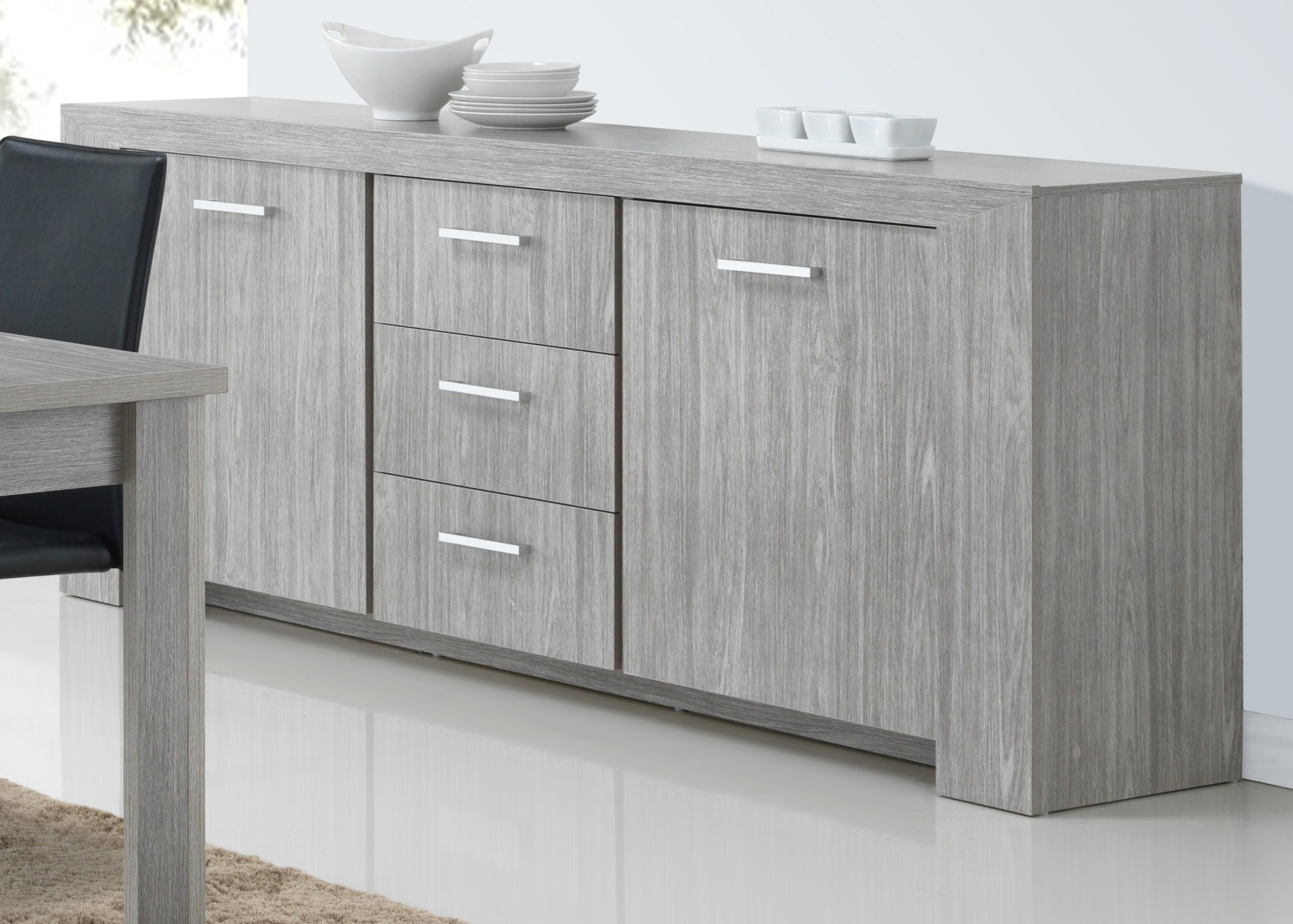 Bahut Bas Design Buffet-bahut Contemporain 220 Cm Lord