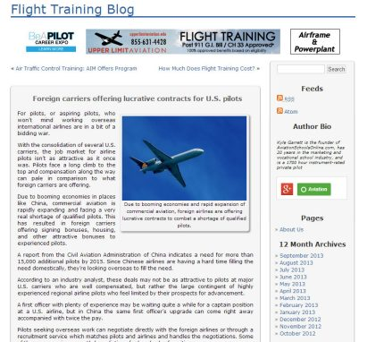 Aviation Blog Post