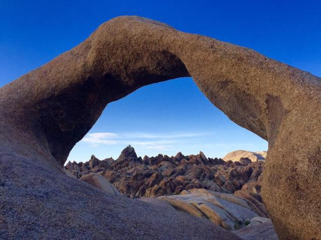 Hiked to the Mobius Arch Loop in AlabamaHills