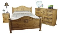 Mexican Pine Furniture Texas Star Rustic Pine Bedroom Set ...