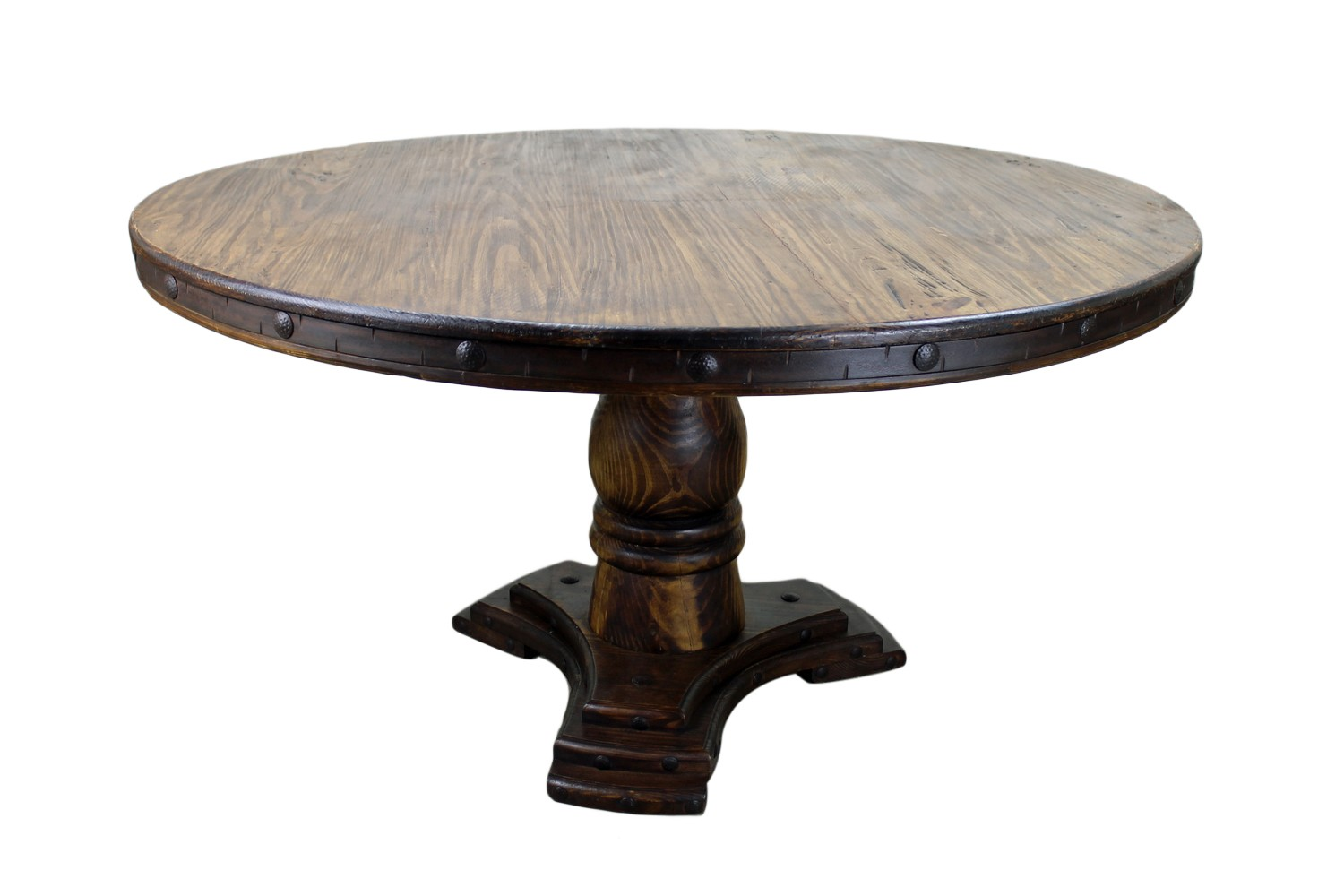 unfinished round dining table solid wood kitchen tables Marseille Solid Oak Dining Room Furniture