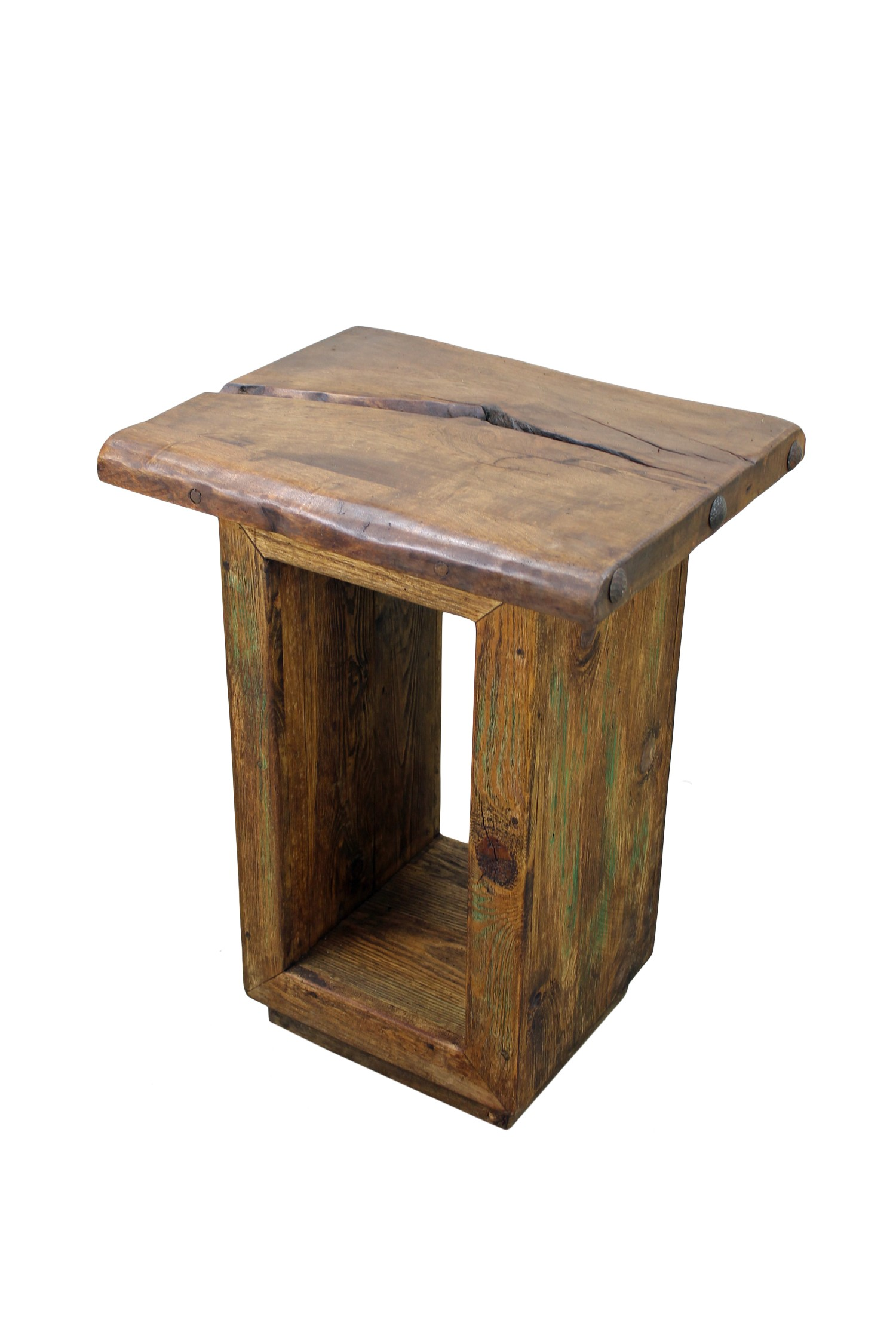 Wood Cube End Table Mesquite Wood Cube Side Table Mexican Home Decor Mexican