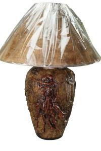 Red Oak Hydrocal Table Lamp | Mexican Rustic Furniture and ...