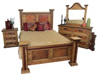 Pounded Copper Rustic Bedroom Set | Mexican Rustic ...