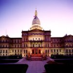 The most expensive whore house in Michigan. The Michigan State Capitol