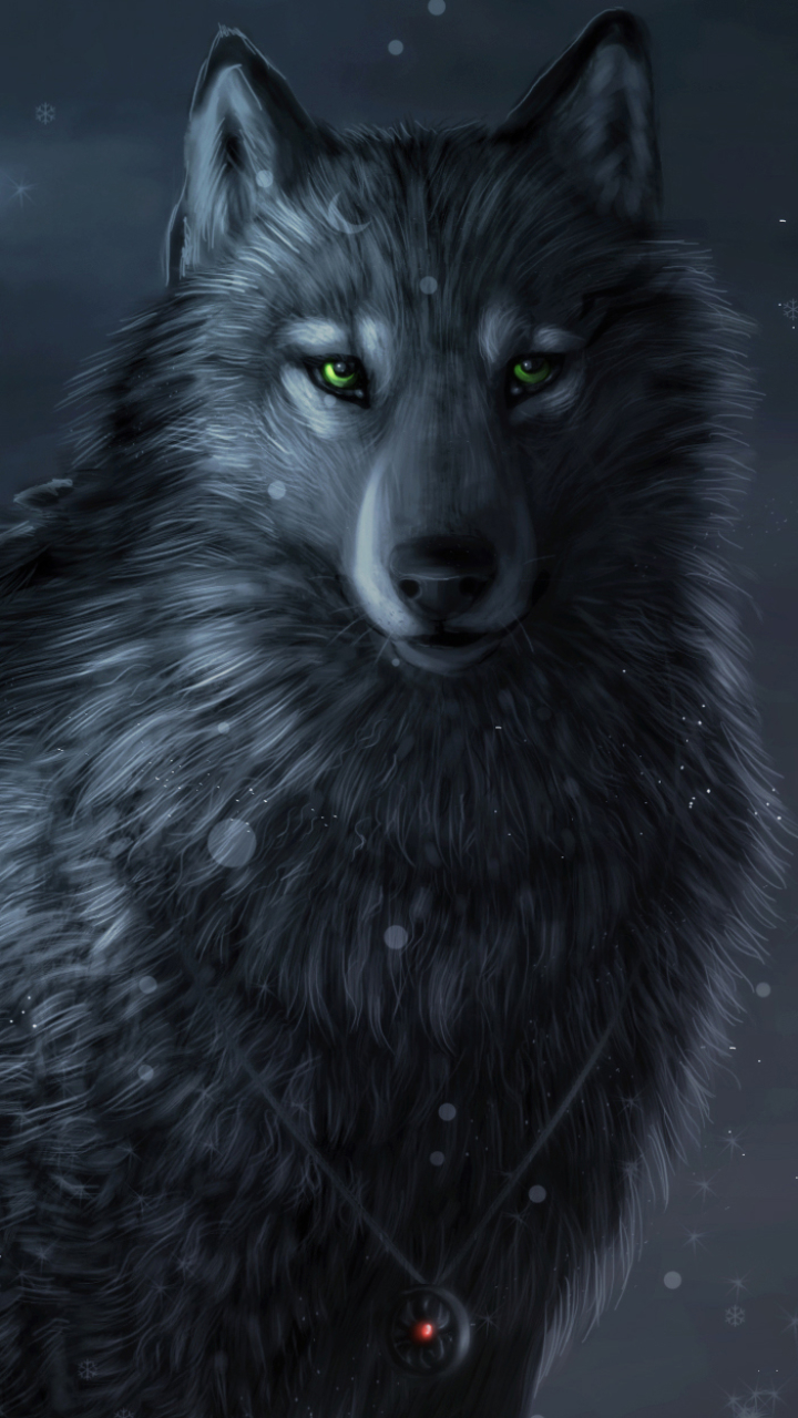 Black Wolf Wallpaper Animal Wolf 720x1280 Wallpaper Id 627794 Mobile Abyss