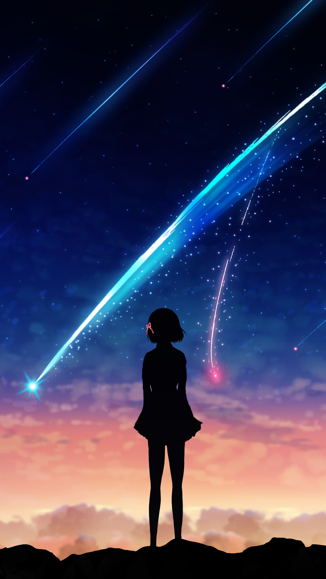 Rainy Wallpaper With Girl Anime Your Name 1080x1920 Wallpaper Id 694138 Mobile