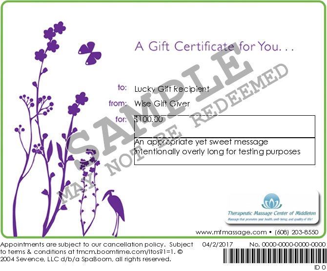 Gift Certificates Now Available Online