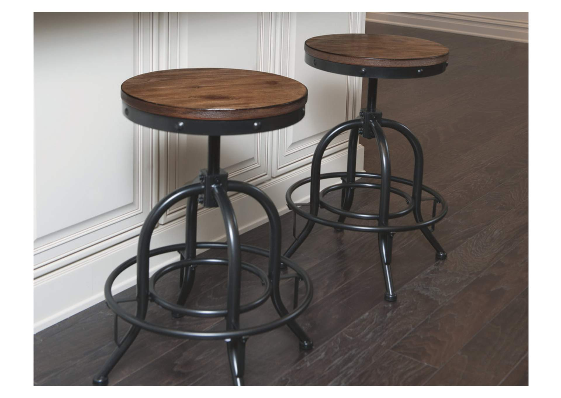 Pinnadel Counter Height Bar Stool Set Of 2 Brandywine Furniture Wilmington De