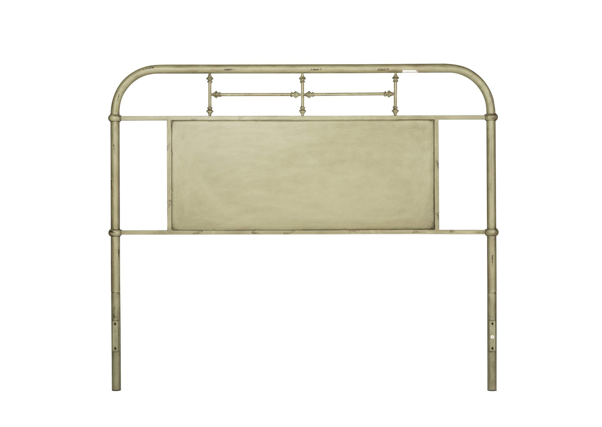 Vintage Series Grey King Metal Headboard Green The Furniture Company