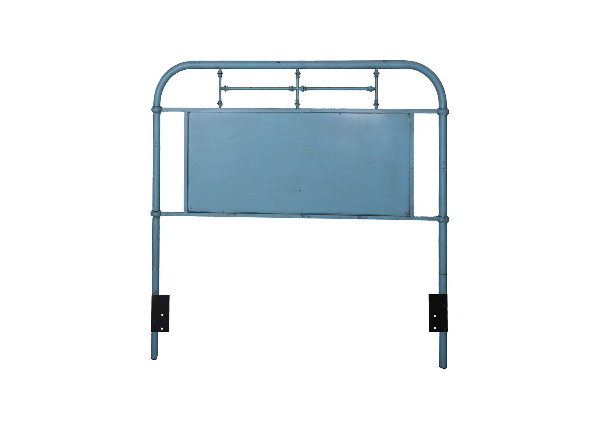 Vintage Series Full Metal Headboard Blue The Furniture Company