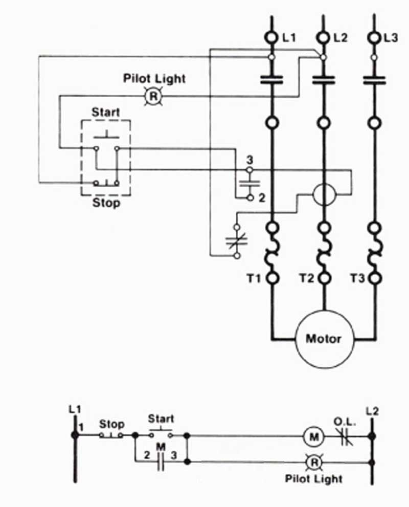 ladder wiring diagram start stop