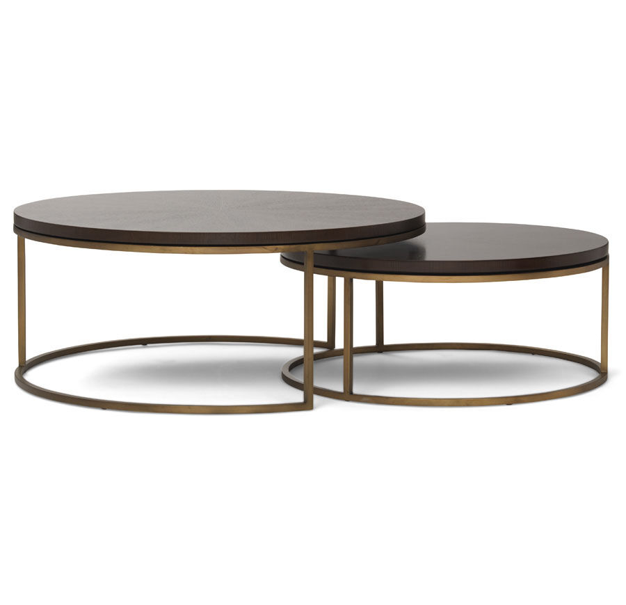 Gold Nesting Coffee Table Bassey Nesting Cocktail Table