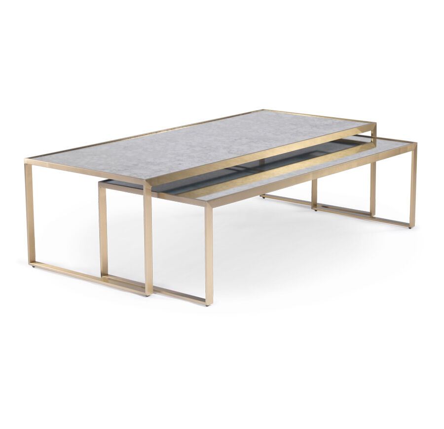 Gold Nesting Coffee Table Astor Nesting Cocktail Table