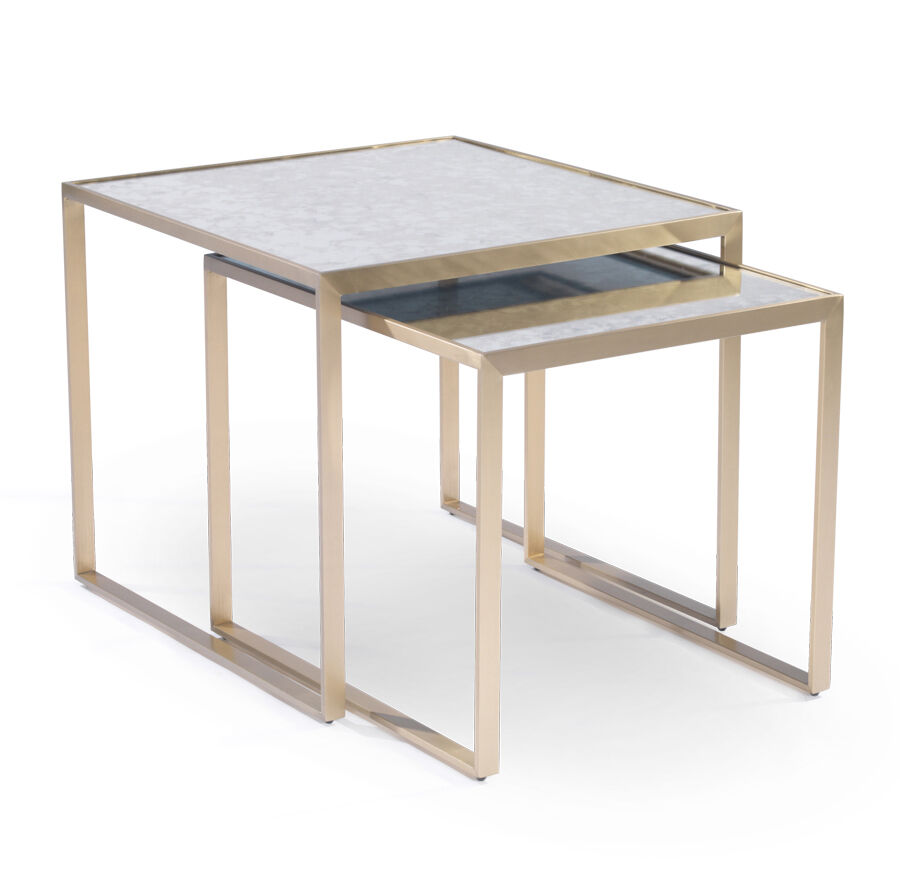 Gold Nesting Coffee Table Astor Nesting Side Table