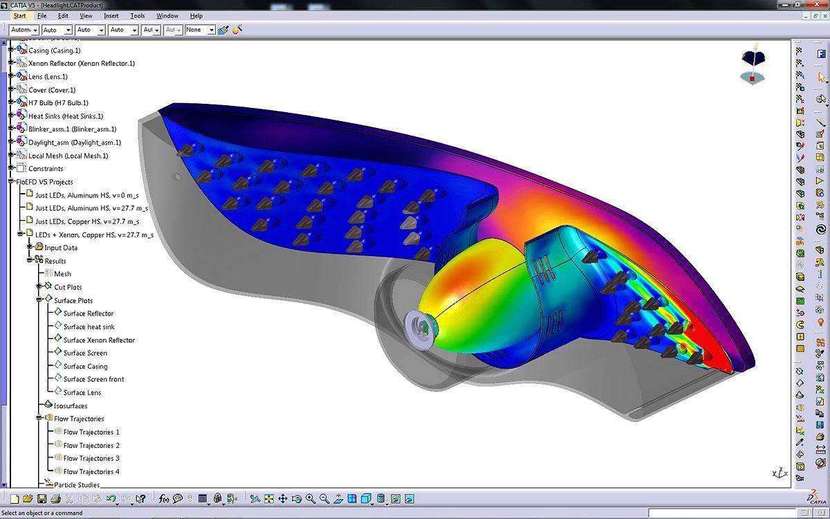 Catia Software Design Floefd Catia V5 Cfd Fully Embedded In Catia V5 Mentor Graphics