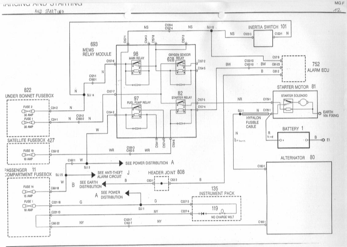 rover 25 horn wiring diagram