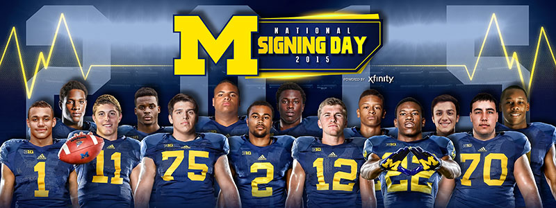 2015 Signing Day - University of Michigan