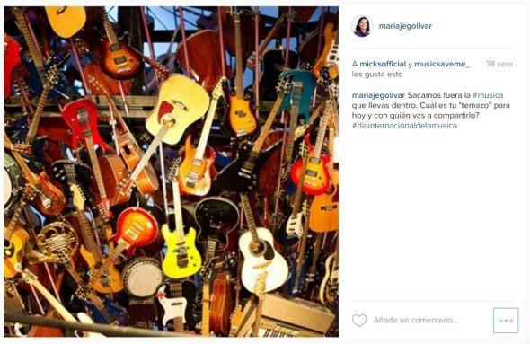 Ejemplo copy Instagram Día Internacional de la Música