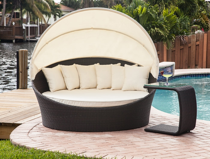 Outdoor Chaise Cushion Covers Mh2g - Outdoor Furniture - Tropea Outdoor Bed Lounger