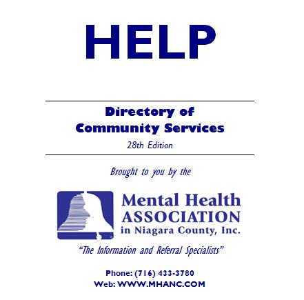Niagara County Community Services Directory Now Updated The Belfry - community service directory