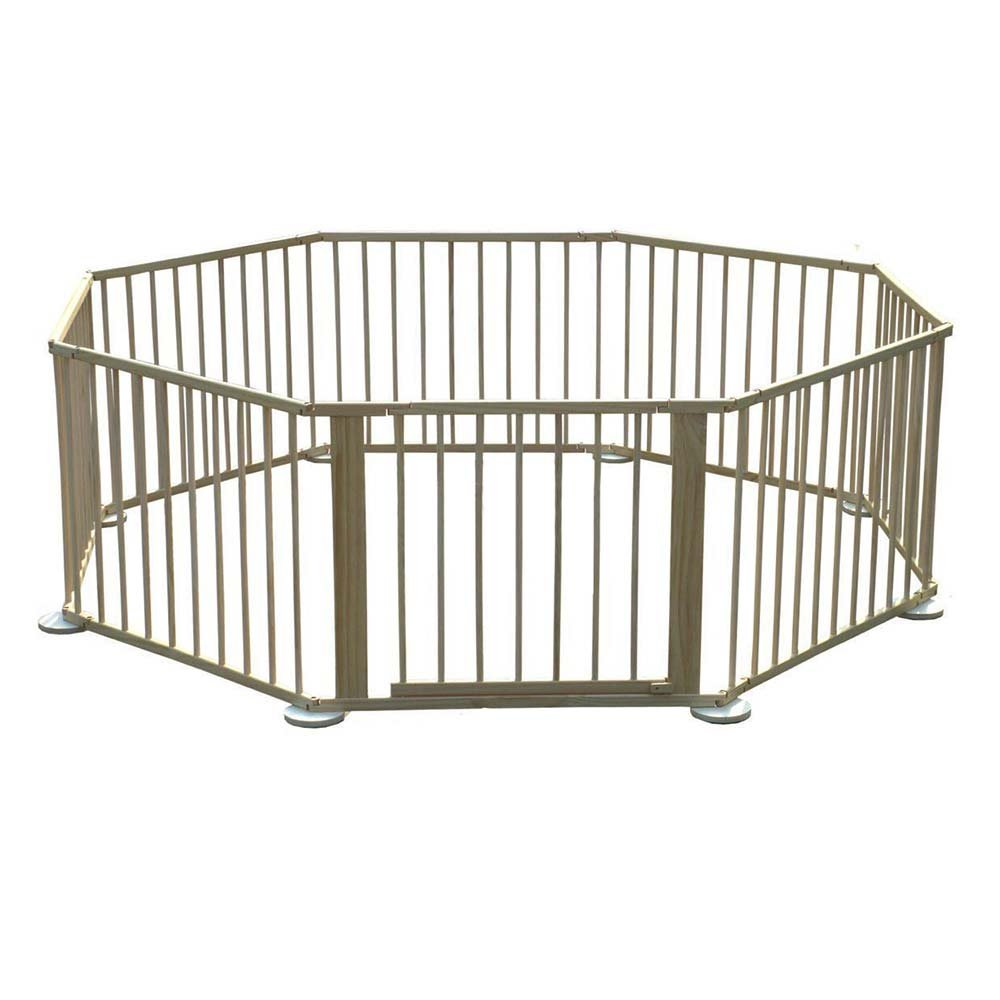 Baby Playpen How Wooden 8 Side Baby Foldable Playpen Play Pen Room Divider