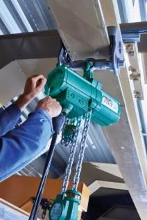 J D Neuhaus undertake regular maintenance and inspection of client hoists.