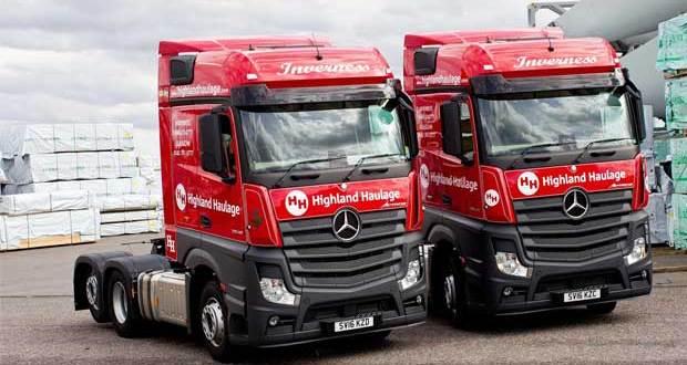 Mercedes-Benz Actros wins a Highland welcome
