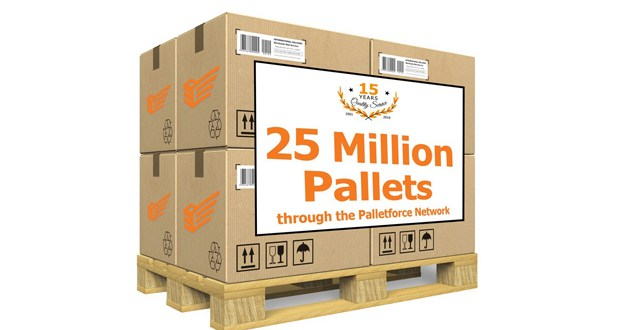 Palletforce breaks 25 million record
