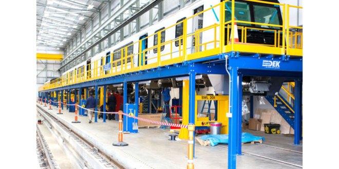 Transdek installs bespoke access platforms for Wabtec Rail