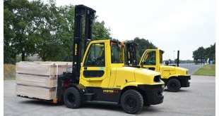 Breakthrough 8t electric forklift previewed by Hyster