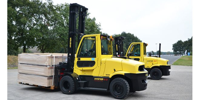 """Breakthrough"" 8t electric forklift previewed by Hyster"