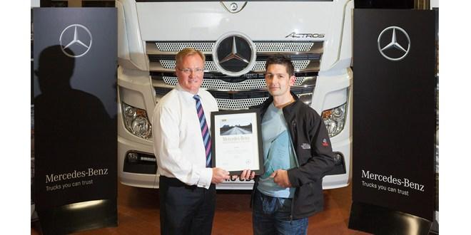 Intercountys Carl crowned top Mercedes-Benz truck technician