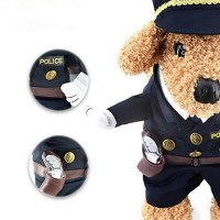 Cat / Dog Costume Dog Clothes Police / Military Fabric ...