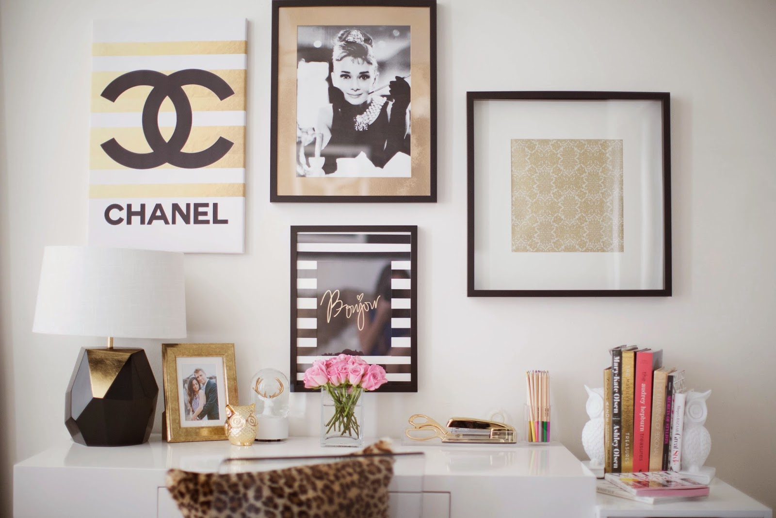 Stylish Office La Home Office Tour Mia Mia Mine