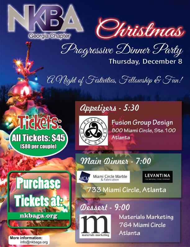 NKBA Progressive Dinner Party \u2013 Miami Circle Marble  Fabrication - christmas luncheon flyer