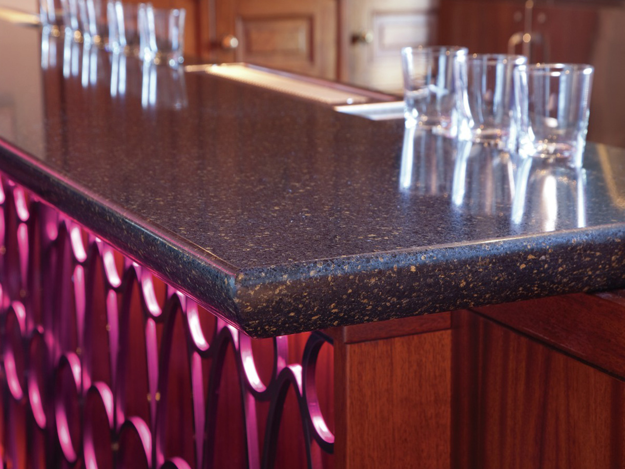 Cambria Countertop Edges Welshpool Black Cambria Miami Circle Marble And Fabrication
