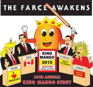 King Mango Strut Farce awakens Tshirt