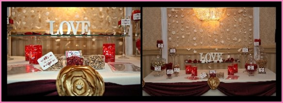 Red and Gold candy buffet
