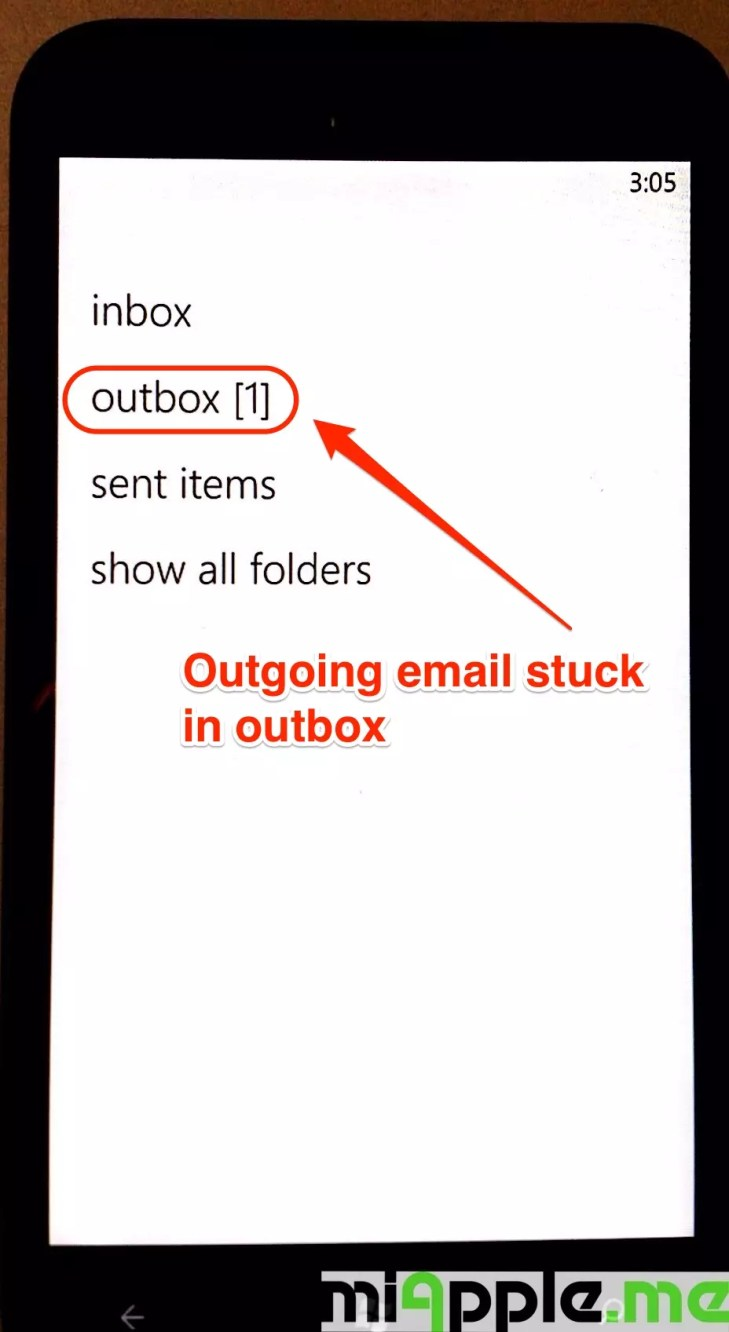 iCloud email set up on Windows Phone 7 and Windows Phone 8: Outgoing mails are not sent