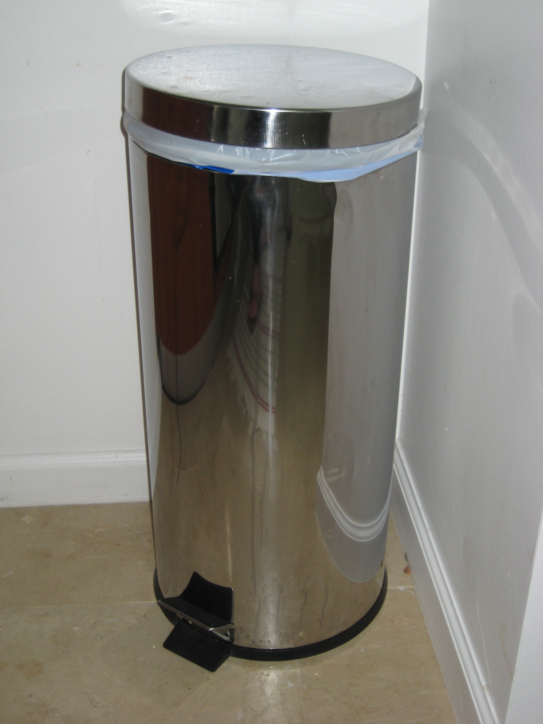 Tall Narrow Trash Can Tall Trash Can Tall Slim Slim 23 Gal Blue Plastic Trash
