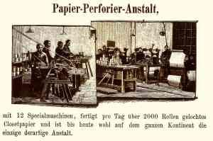 Die frühe Produktion von Toilettenpapier in den Eisenwerken Gaggenau belegen auch diese beiden Zeichnungen aus dem Jahr 1891.