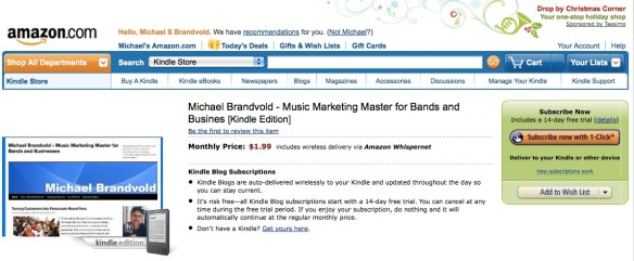 MichealBrandvold.com Blog for Kindle
