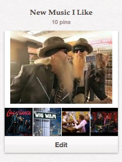 Pinterest board, new music I like