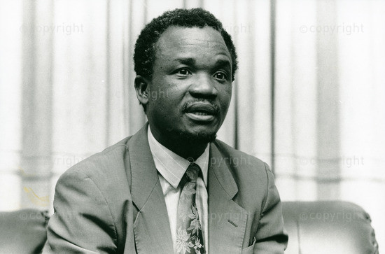 Frederick Chiluba in Lusaka, March 1991