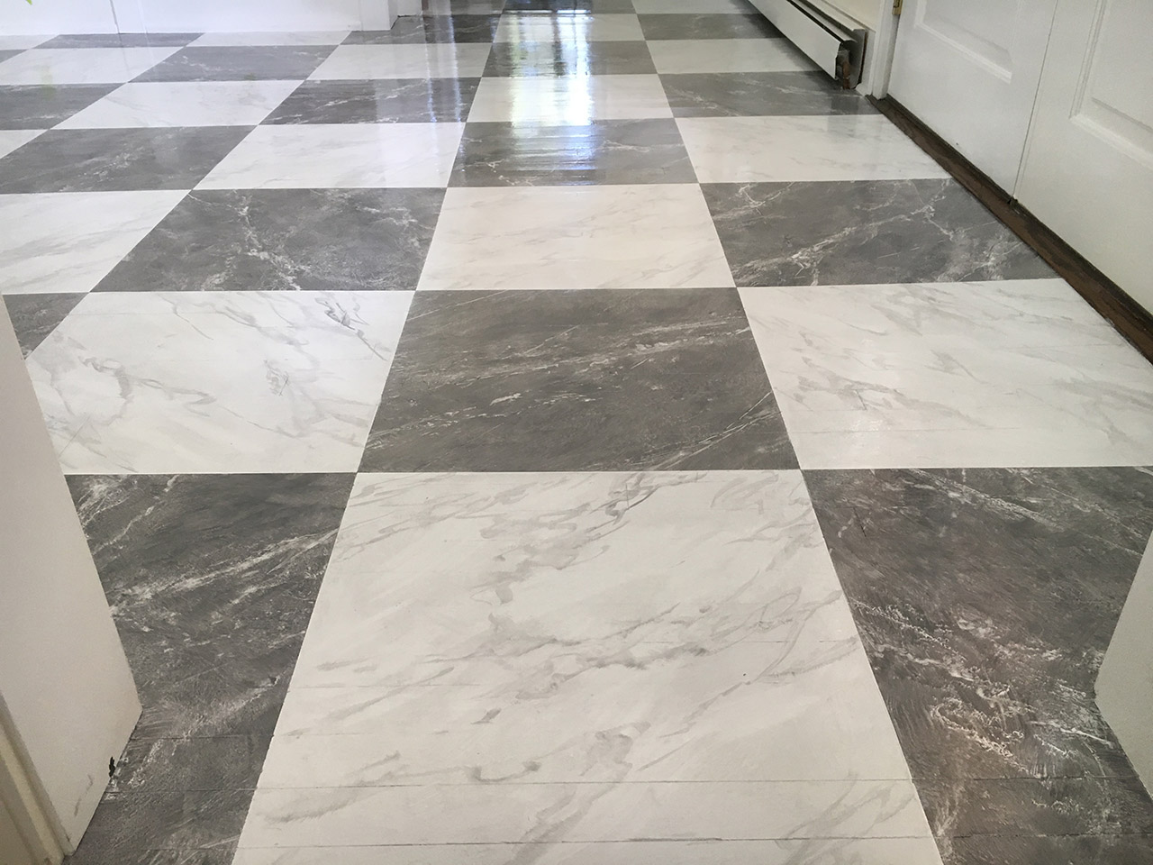 Faux Marble Floors
